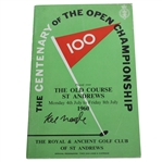 Kel Nagle Signed 1960 Open Championship at St. Andrews Program JSA ALOA