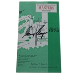 Gary Player Signed 1974 Masters Tournament Spectator Guide JSA ALOA