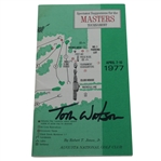 Tom Watson Signed 1977 Masters Tournament Spectator Guide JSA ALOA