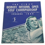 Patty Berg Signed 1946 Womens National Open Championship Program - FIRST ONE! JSA ALOA