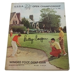 Billy Casper Signed 1959 US Open at Winged Foot Program JSA ALOA