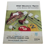 1961 Western Open at Blythefield CC Program - Arnold Palmer Winner