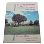 1960 US Open Championship at Cherry Hills Program - Arnold Palmer Winner