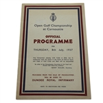 1937 Open Championship at Carnoustie Official Program - Thursday