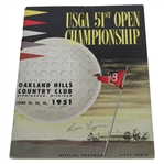 Ben Hogan Signed 1951 US Open Championship at Oakland Hills Program JSA ALOA