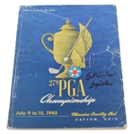 Byron Nelson Signed 1945 PGA Championship at Moraine CC Program JSA ALOA