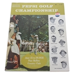 Arnold Palmer Signed 1958 Pepsi Golf Championship Program - Held Once! JSA ALOA