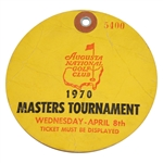 1970 Masters Tournament Wednesday Par 3 Day Ticket #5400