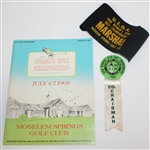 1968 Womens US Open Championship at Moselem Program, Arm Band, & Co-Chairman Badge