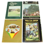 1973, 1974, 1975, & 1976 US Open Programs - Miller, Irwin, Graham, & Pate Winners