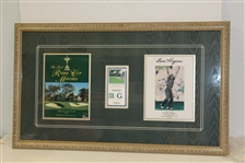 Justin Leonard Signed Ryder Cup Photo with Sunday Ticket & Program - Framed JSA ALOA