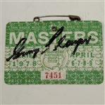 Gary Player Signed 1978 Masters Series Badge #7451 JSA ALOA