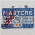 Fuzzy Zoeller Signed 1979 Masters Series Badge #23897 JSA ALOA