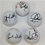 Lot of Five Signed Golf Balls - Poulter, Durant, Howell III, McGee, & Baddeley JSA ALOA