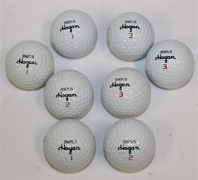 Lot Detail - Eight 'Hogan 392LS' Logo Golf Balls