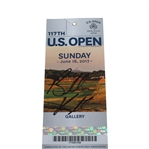 Brooks Koepka Signed 2017 US Open at Erin Hills Sunday Ticket JSA ALOA