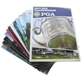 Fourteen Winner Signed PGA Championship Programs 1987-2008 JSA ALOA