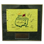2000 Masters Embroidered Flag Signed by 11 Champs - Snead Signed Center - Framed JSA ALOA