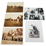 Five 1925 US Open Photos - MacFarlane with Trophy, Bobby Jones, Tommy Armour