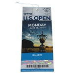 Jim Furyk and Fluff Signed 2017 US Open Monday Ticket JSA ALOA
