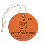 1975 Masters Tournament Wednesday Par 3 Daily Ticket #4819-Nicklaus Wins 5th Masters