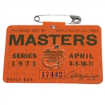 1971 Masters Tournament Series Badge #17442 - Charles Coody Winner