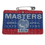 1976 Masters Tournament Series Badge #14134 - Ray Floyd Winner