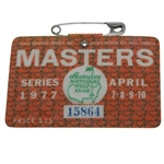 1977 Masters Tournament Series Badge #15864 - Tom Watson Winner