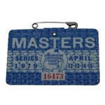 1979 Masters Tournament Series Badge #16473 - Fuzzy Zoeller Winner