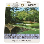 2008 Masters Tournament Series Badge #Q05873 - Trevor Immelman Win