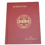 1951 Ryder Cup Matches at Pinehurst Hard Cover Program - USA 9 1/2 - 2 1/2