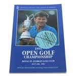 Multi-Signed 1993 Open Championship at Royal St. Georges Program - Stewart & Others JSA ALOA