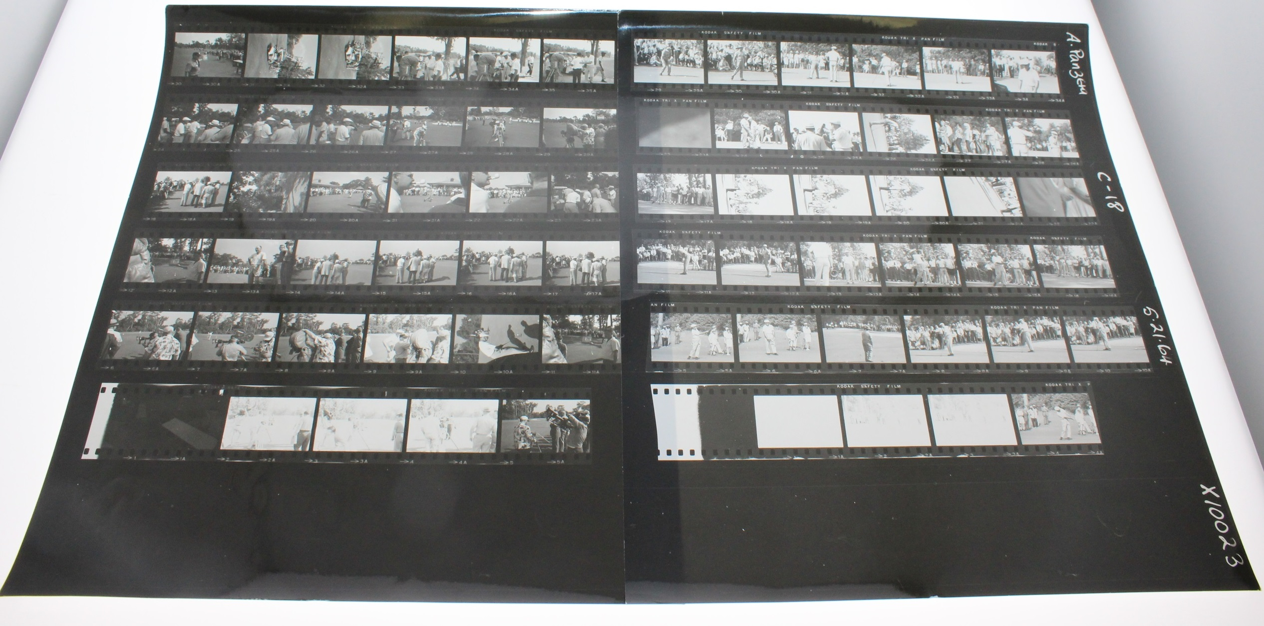 Snead Black And White Proof Sheets  21 Sheets