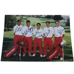 Tiger Woods and Teammates Signed 1995 Stanford Golf Team 5x7 Photo JSA #Z25160