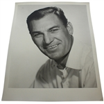 Ben Hogan Personal 14 x 11 Black and White Headshot -Smiling-His Favorite Off Course Image