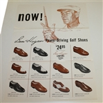 Ben Hogans Personal Power-Driving Golf Shoes Large 1950s Advertising Poster