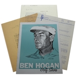 Ben Hogan Golf Shoes Brochure with Ravielli Cover Art