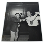 Personal Ben Hogan with Bob Hope Swinging Original Black and White Photo