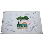 2008 US Open CHAMPS Flag - Palmer, Nicklaus, Player & More JSA #Z09263