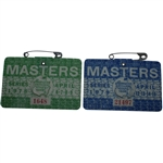 1978 & 1979 Masters Series Badges #1648 & #21497 - Player & Zoeller Wins