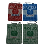 Four Masters Series Badges - 1981, 1982 (x2), and 1983