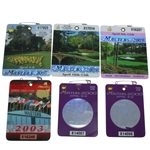 Six Masters Series Badges - 2000 (x2), 2003, 2007-2009