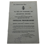 1947 Open Championship Qualifying Rounds Official Program - For Competitors Only