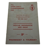 1953 Open Championship at Carnoustie Program - Wed & Thurs - Robert de Vicenzo Signed JSA ALOA