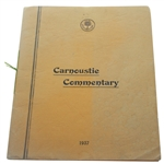 1937 Open Championship Carnoustie Commentary Program - Published by Carnoustie GC Committee