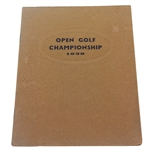 1939 Open Golf Championship St. Andrews Booklet