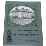 Silvertown Co. 1926 Open Championship at Royal Lytham & St Annes Pamphlet-Bobby Jones Win
