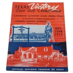 1944 Texas Victory Open Golf Championship at Lakewood CC Program - Byron Nelson Winner