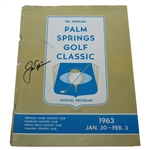 Jack Nicklaus Signed 1963 Palm Springs Golf Classic Program- 4th Career Win- JSA ALOA