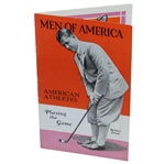 1929 Bobby Jones Cover Men of America No. 35 Sports Booklet - Great Condition